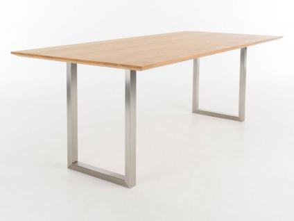 Bert Plantagie Tisch Cheek mit Holzplatte Esstisch ohne Funktion für Esszimmer Tischplattenausführung Gestellausführung und Größe wählbar