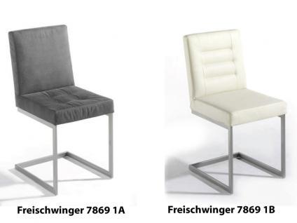 K+W Silaxx 7869 Freischwinger Spider KW Möbel hochwertiger Stuhl in Leder Longlife oder Kunstleder