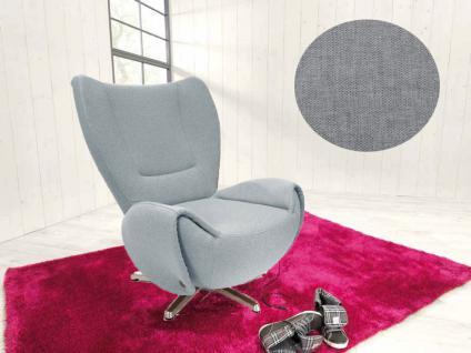 Tom Tailor Sessel Tom wahlweise gegen Mehrpreis mit Drehhocker oder Nackenkissen, Abbildung zeigt Bezug KTAP - soft grey