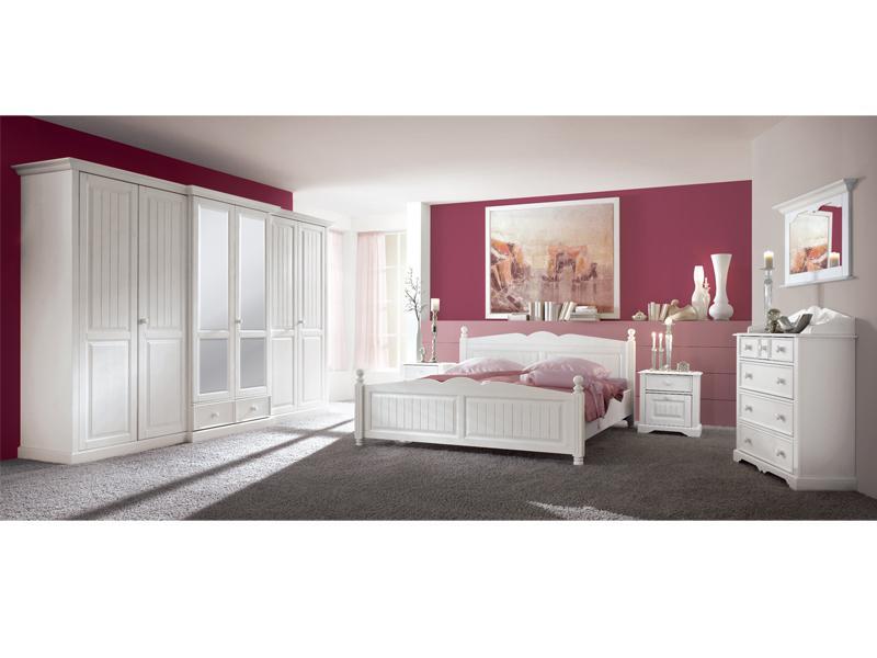 Schlafzimmer Weiß Massiv Komplett kaufen bei Yatego