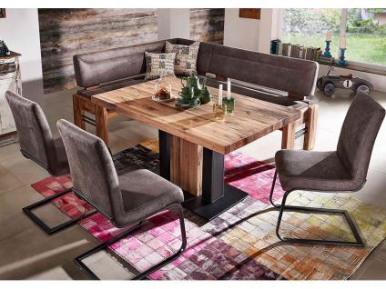 K+W Möbel Esstischgruppe 4116 Silaxx Floyd mit Tisch, Eckbank und Stühlen hochwertige Sitzgruppe in Leder Longlife oder Stoff