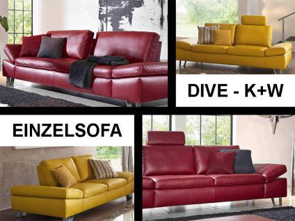 K+W Möbel Dive / Karla / 7474 Einzelsofa oder Drehsessel Sofagarnitur Sofa Polstergarnitur Couch für Wohnzimmer Sofa in Bezug Stoff oder Leder wählbar