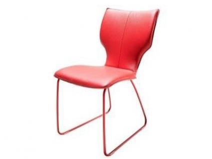 Bert Plantagie Stuhl Joni 711 mit Uni-Polsterung und Schlittengestell Polsterstuhl für Esszimmer Esszimmerstuhl Gestellausführung und Bezug in Leder oder Stoff wählbar