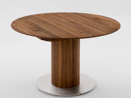 Venjakob Esstisch Typ 2837 Tisch furniert rund für Esszimmer Ausführung und Klappeinlage wählbar