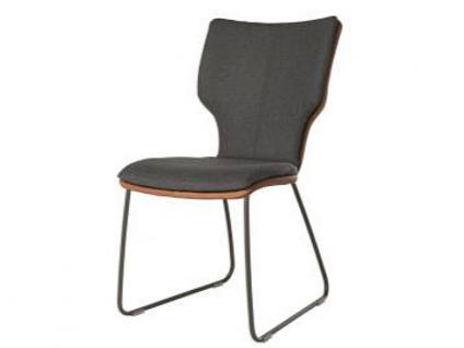 Bert Plantagie Stuhl Joni Schlitten 711C Komfort mit Bi-Color-Mattenpolsterung Polsterstuhl für Esszimmer Esszimmerstuhl Gestellausführung und Bezug in Leder oder Stoff wählbar
