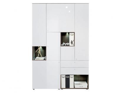 b roschrank wei hochglanz online kaufen bei yatego. Black Bedroom Furniture Sets. Home Design Ideas