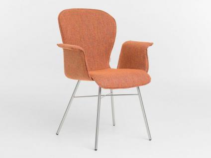 Bert Plantagie 632A Blake Four mit Uni-Polsterung Stuhl für Esszimmer Esszimmerstuhl mit Armlehnen Gestellausführung und Bezug in Leder oder Stoff wählbar