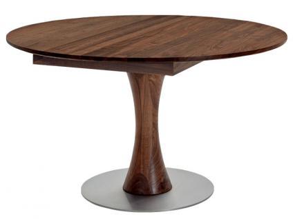 S-KULTUR by Wöstmann Rondo Tischsystem Runder Esstisch massiver Tisch mit Linoleum Klappeinlagen, Esszimmer, Säule