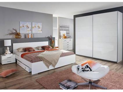 schlafzimmer weiss hochglanz g nstig online kaufen yatego. Black Bedroom Furniture Sets. Home Design Ideas