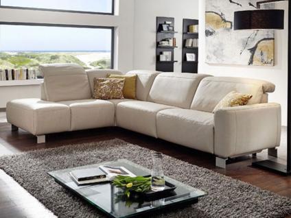 K+W Möbel 7224 Purio Ecksofa Sofagarnitur Polstergarnitur Couch für Wohnzimmer Bezug Stoff oder Leder wählbar
