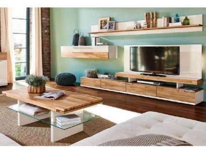 Arte M Feel Wohnwand Feel alle Vorschläge wählbar für Ihr Wohnzimmer Anbauwand Vorschlagskombination Eiche massiv mit Alpina weiß oder Cubanit
