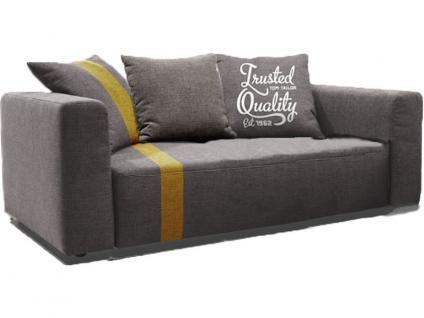 Tom Tailor Heaven Stripe Bank 2-sitzig, Größe XS, mit 3 Kissen, Abbildung zeigt Sofa in woven grey & Streifen in mustard