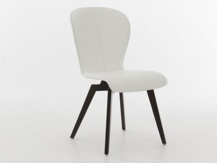 Blake WOOD mit Uni-Polsterung von Bert Plantagie Stuhl ohne Armlehnen 615A für Esszimmer Esszimmerstuhl Gestellausführung und Bezug wählbar