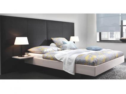 Hasena Wood-Line Premium 18 Vilo Bettrahmen Massivholz mit Wandpaneele Avipa-2 XL gepolstert Buche-Farben oder Kernesche wälbar