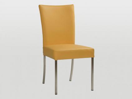 Bert Plantagie James Polsterstuhl Stuhl für Esszimmer Gestellausführung und Bezug in Leder oder Stoff wählbar