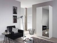 Rauch Packs Minosa Plus - Drehtürenschrank in Hochglanz weiß, wahlweise mit Spiegeltüren in verschiedenen Größen