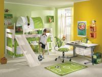 Paidi Pinetta Spielbett Hochbett und Etagenbett mit Rutsche Kinderbett in Fichte weiß oder natur