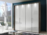 Wiemann Loft - moderner Kleiderschrank, Drehtürenschrank, Panoramaschrank, Falttürenschrank, Größe, Korpus / Front, Dekor und Glasauflage wählbar