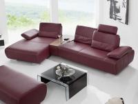 K+W Miami 7487 KW Möbel Ecksofa Garnitur Wohnlandschaft für Wohnzimmer, Leder oder Stoff wählbar