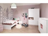 Wellemöbel Malie kompl. 3 teiliges Kinderzimmer bestehend aus Liege mit Nachttisch, Kleiderschrank und Kommode