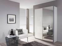 Rauch Packs Minosa Plus Schwebetürenschrank in Hochglanz weiß, wahlweise mit Spiegeltüren in verschiedenen Größen
