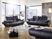 K + W Polstermöbel Polstergarnitur Smile 7138 Wohnlandschaft Sofa 2-sitzig Sofa 2, 5-sitzig inklusive Armteil- und Rückenverstellung Füße Bezug Hocker wählbar