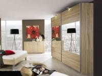 Rauch Select Beluga-Base Schwebetürenschrank Variante B Kleiderschrank Ausführung Spiegel horizontal Größe wählbar
