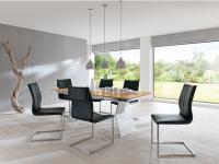 S-KULTUR by Wöstmann FINELINE Tischsystem Esstisch Variante B, Metallwangen Tisch Linoleum Keramik Massiv