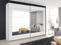 Rauch Packs Alegro Schwebetürenschrank Front Spiegelauflage mit Absetzungsrahmen Korpus Dekor wählbar für Schlafzimmer - Kleiderschrank