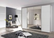 Rauch Packs Syncrono-C Spiegeltürenschrank Kleiderschrank Panoramaschrank Synchron Schwebetürenschrank für Schlafzimmer Schrank Dekor und Größe wählbar