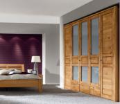 IMS Living Volo Schlafzimmer Kleiderschrank Erle natur teilmassiv Drehtürenschrank Größe wählbar