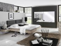 Rauch Schlafzimmer Colette Dialog bestehend aus Bett, 2x Hängenachttisch und Schwebetürenschrank Ausführung wählbar