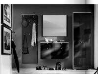 Wittenbreder Multi Color UNA komplette Garderobe 4-teilig mit Schuh-Klappschrank, Kleiderschrank, Paneel, Spiegel und Garderoben-Schrank