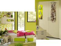 Rudolf Möbel Max-i Jugendzimmer Maxi 4-teilig mit Bett mit Schubkasten Eckkleiderschrank mit Beleuchtung Hängeregal Container