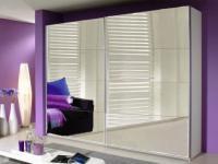 Rauch Quadra Kleiderschrank Möbel Schwebetürenschrank Schrank Front komplett Spiegel Korpus Dekor wählbar für Schlafzimmer