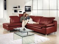 Schillig Willi Ecksofa Amore 10574 Triest Sofa 2 + Longchair mit Seitenteil und Kopfbügelverstellung für ihr Wohnzimmer in Stoff oder Leder