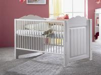 IMS Living Cinderella Premium Bett Kinderbett Babybett Kiefer teilmassiv zum Juniorbett umbaubar in Cinderella weiss