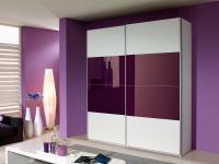 Rauch Quadra Möbel Kleiderschrank Schwebetürenschrank Schrank Glas Dekor mittig wählbar für Schlafzimmer