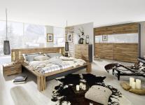 Rauch Select DAVOS kompl. 5tlg.Schlafzimmer Bett Nachttische Kommode Schwebetürenschrank-Spiegel DekorDruck und Farbe wählbar