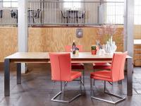 Bono Bert Plantagie Esstisch mit Auszugsfunktion Tisch für Esszimmer Tischplattenausführung Gestellausführung und Größe wählbar