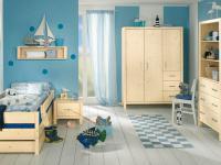 Paidi Pinetta Kinderzimmer Jugendzimmer 3 teilig Kleiderschrank Regal Kinderliege in Fichte natur oder weiß