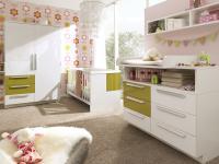Wellemöbel Milla Babyzimmer bestehend aus Kommode Schrank und Babybett wählbar zwischen 5 verschiedenen Ausführungen