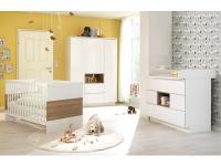 Wellemöbel Malie kompl. 3 teiliges Babyzimmer bestehend aus Kinderbett, Kommode mit Wickelaufsatz und Kleiderschrank