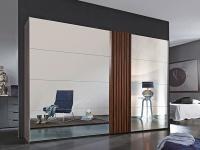 Rauch Steffen Tegio Schwebetürenschrank Kleiderschrank Schrank für Schlafzimmer Größe Front in Spiegel und vertikale Absetzung wählbar