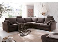 Candy Ecksofa Intermezzo Sofa 2, 5 Sitzer + Spitz-Ecke groß + 2 Sitzer Polstermöbel für Wohnzimmer in Stoff -oder Lederbezug wählbar