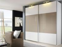 Rauch Select Beluga-Plus Schwebetürenschrank Variante C Kleiderschrank Größe und Ausführung horizontal wählbar