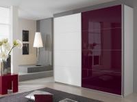Rauch Quadra Kleiderschrank Möbel Schwebetürenschrank Schrank 4x Glas Dekor wählbar für Schlafzimmer