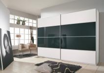 Rauch Juwel B Kleiderschrank Dialog Schwebetürenschrank Glasauflage Dekor Breite Höhe wählbar