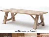 MCA Furniture BRISTOL 4-Fuß-Tisch massiv aus Handarbeit individuelle Einzelstücke verschiedene Ausführungen und Größen wählbar