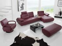 Sofa Garnitur Miami K+W 7487 KW Möbel Couch Sofa Wohnlandschaft mit DrehsesselGröße und Stoff wählbar